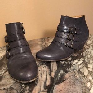Fiorentina + Baker 3 Buckle Italian Ankle Boots